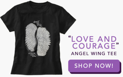 Love and Courage Angel Wing Tee
