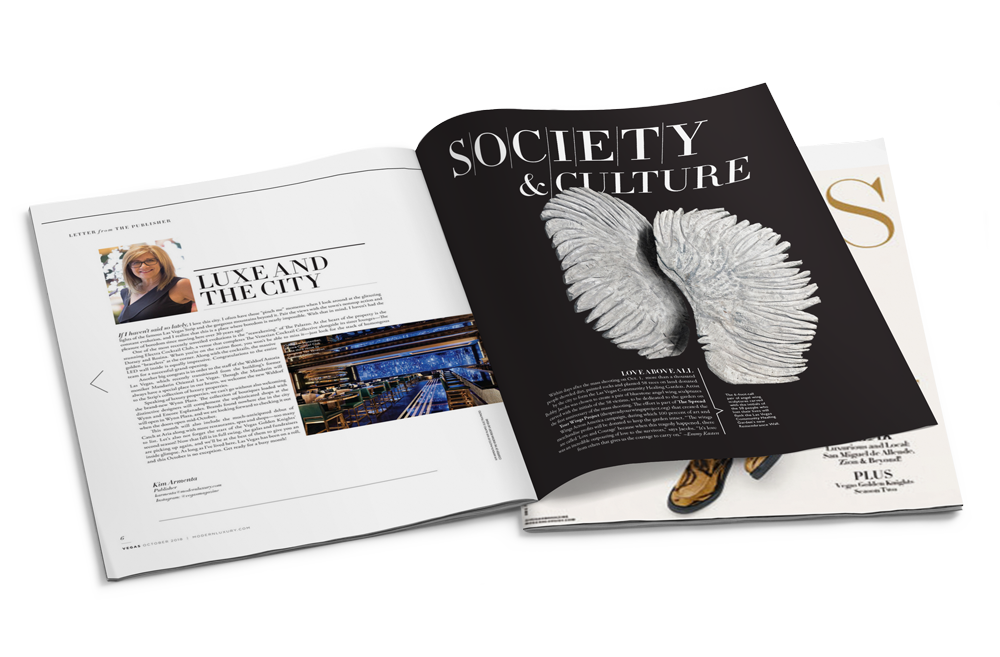 Modern Luxury | Vegas - Angel Wing Dedication Article