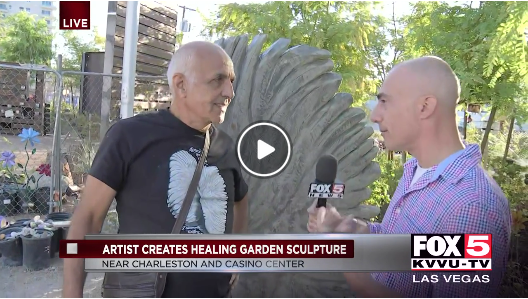 Sculpture Dedication Fox 5 News Vegas